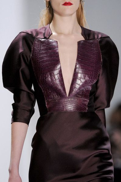 Carmen Marc Valvo Fall 2013 Fashion week. Oxblood trend. Runway fashion.