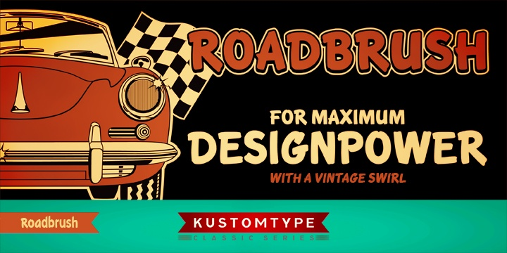 Roadbrush Font For Maximum Design Power!  http://www.myfonts.com/fonts/kustomtype/roadbrush/