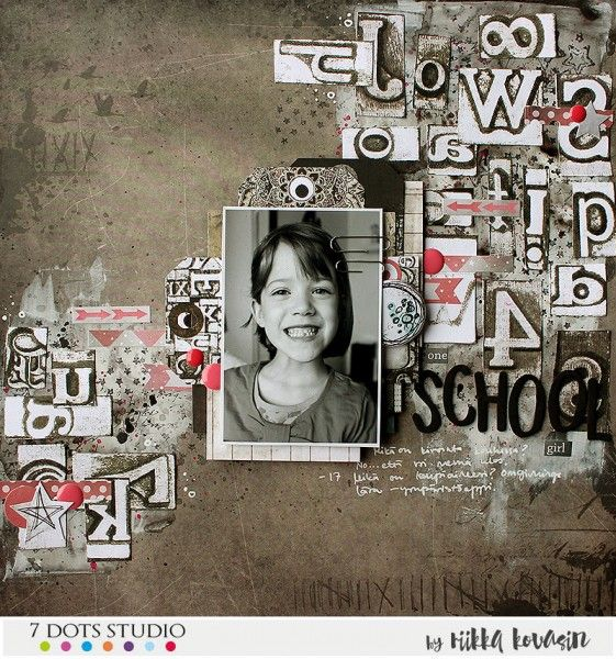 One school girl by Riikka Kovasin