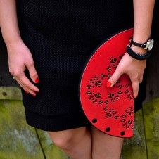 czerwona torebka-kopertówka KashubianCradle czerwona torebka-kopertówka KashubianCradle