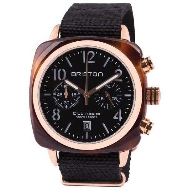 Briston Watches Chronograph Nylon Strap Watch, 40Mm (1.130 BRL) ❤ liked on Polyvore featuring jewelry, watches, nylon strap watches, chronograph watch, rugged watches, chronograph watches and dial watches