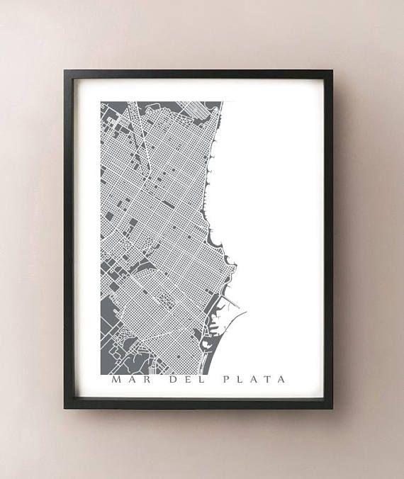Mar Del Plata Argentina Map Print Etsy Map Print Mar Del Plata Prints