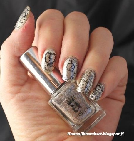 A England Excalibur and vintage stamping with Moyra's plate