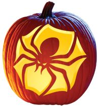 Aimless Moments: Brown Recluse Spider Pumpkin Carving Template #Halloween