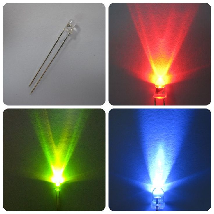 water clear yellow green blue white red led 3mm