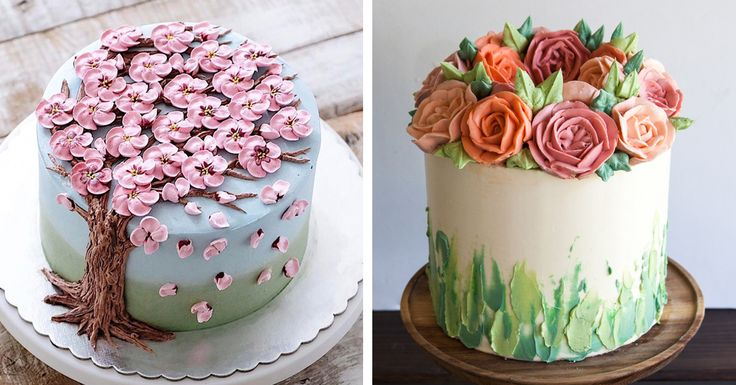 Say hello to spring with buttercream flower cakes. The edible sculptures are a delicious way to welcome warmer temperatures and longer days!