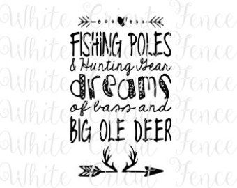 PRINTABLE: Fishing theme Fishing Poles & by LostSockDesigns