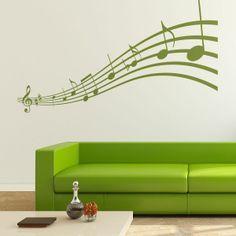 Vinilo decorativo Notación musical. Masquevinilo.com
