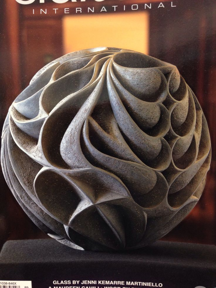 This sculpture demonstrates harmony because it looks like it flows and it has repetition.  Clay sculpture - pure harmony