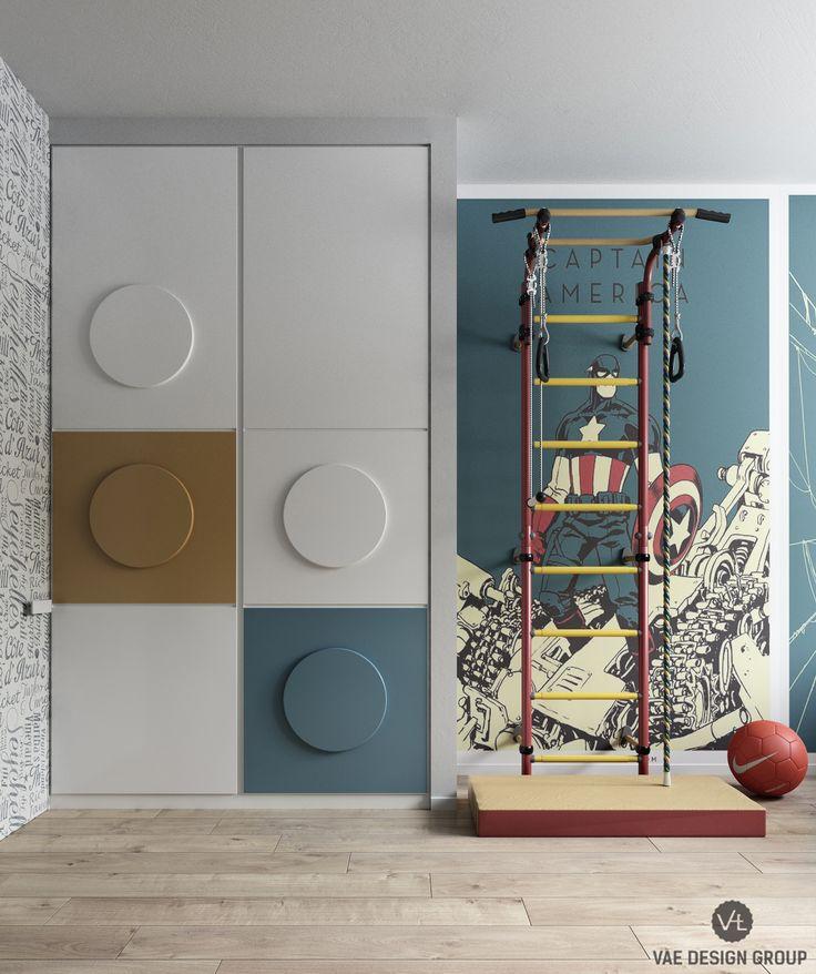 Modern kids superhero room design