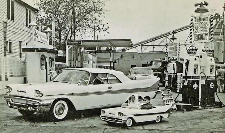 Sweet 1958 DeSoto Fireflite Convertible and matching pedal car. :)