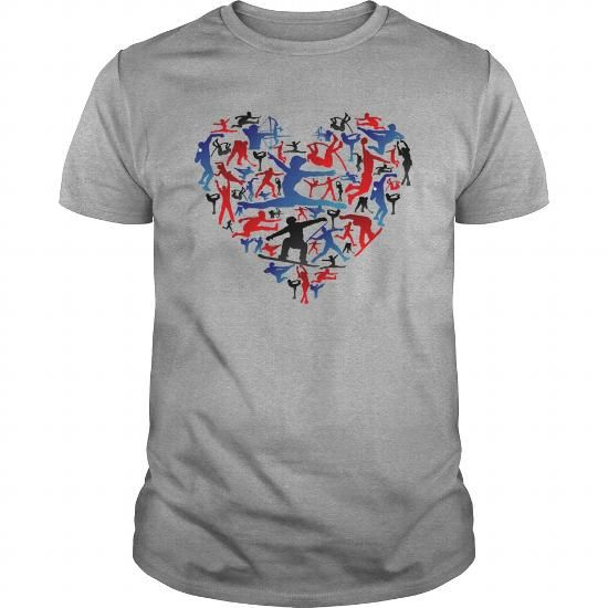 Athletic player made heart in Olympic T-Shirts