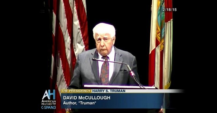 Biographer David McCullough talks about Harry S. Truman's presidency and World War II.