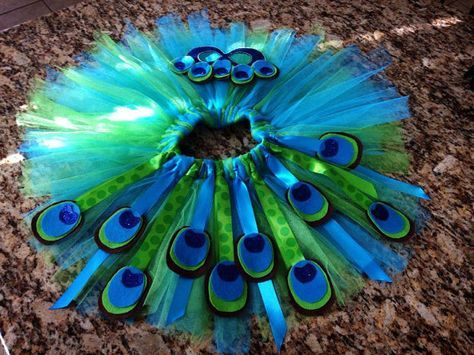 Because every day is dress-up day, this peacock tutu and mask costume is perfect for any little girl who wants to play around in this costume!! The