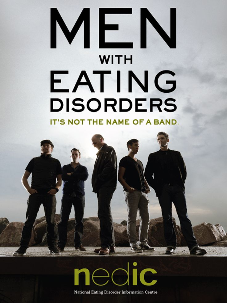 """Men and boys are increasingly affected by eating disorders - so why are they still often thought of as a """"girl's issue""""? Pin this image and help raise awarenness!"""