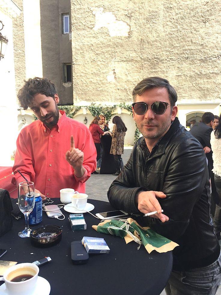 Robert Ratiu & Ovidiu Buta, two dear friends, brunching on a sunny Monday. Brunch Beau Monde & Marie Claire. Gentlemen who brunch.