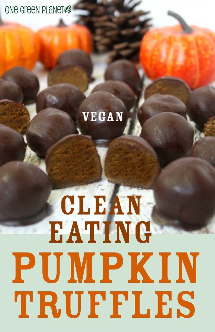Chocolate Pumpkin Truffles - vegan, clean eating http://onegr.pl/1EP08qD