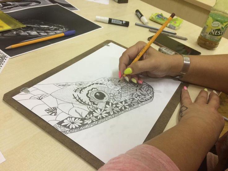 Zentangle rajz - Varga Marcsi munkája