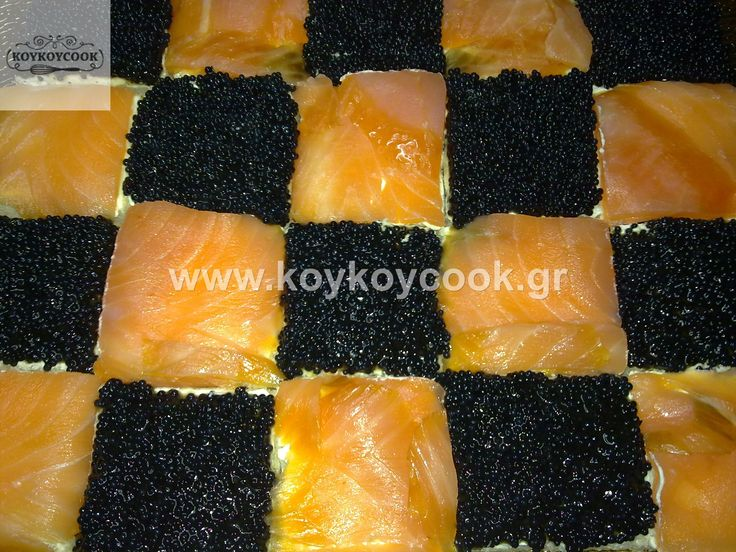 CHESSBOARD WITH SALMON AND HAVIAR