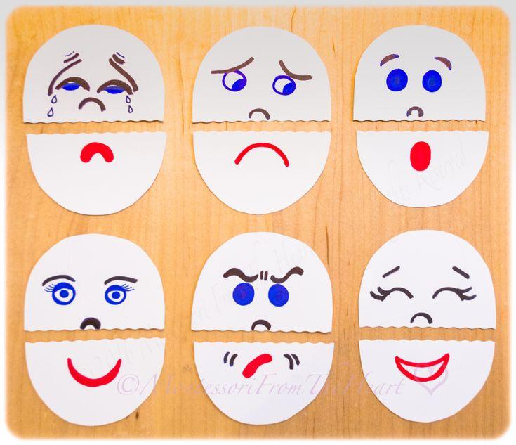 Montessori aus dem Herzen, DIY, einfaches Handwerk, 5 min Handwerk, Emotionen Puppen, Kinder …   – Puzzles