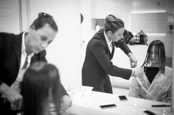 BACKSTAGE TIME|ART COLLECTION SS15 #centro #degrade #conseil #time #art #collection #hair #fashion #spring #summer #2015 #backstage #behind #scenes #cut #color #hairstyle #style #model #mood