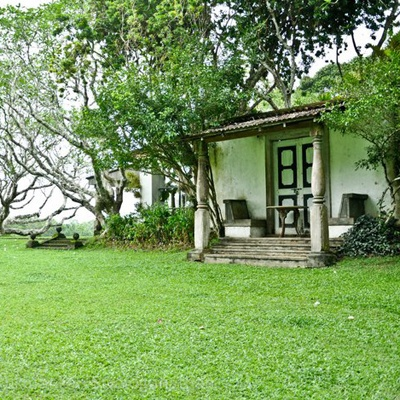 Lunuganga Geoffrey Bawas garden estate in Bentota Sri Lanka
