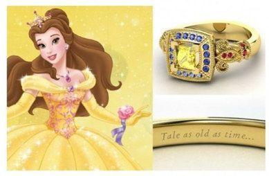 Un amore da favola: gli anelli di fidanzamento ispirati alle principesse #Disney | #Belle