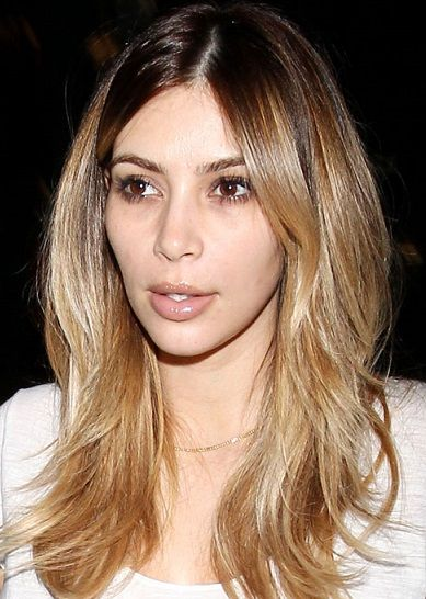 kim kardashian shoulder length blonde hair pinterest