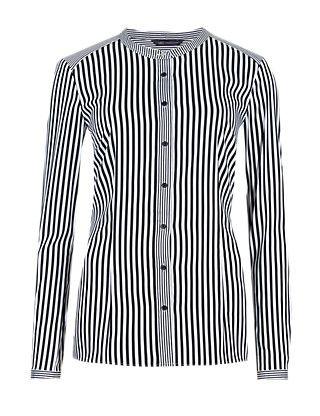 No Peep™ Collarless Striped Shirt | M&S