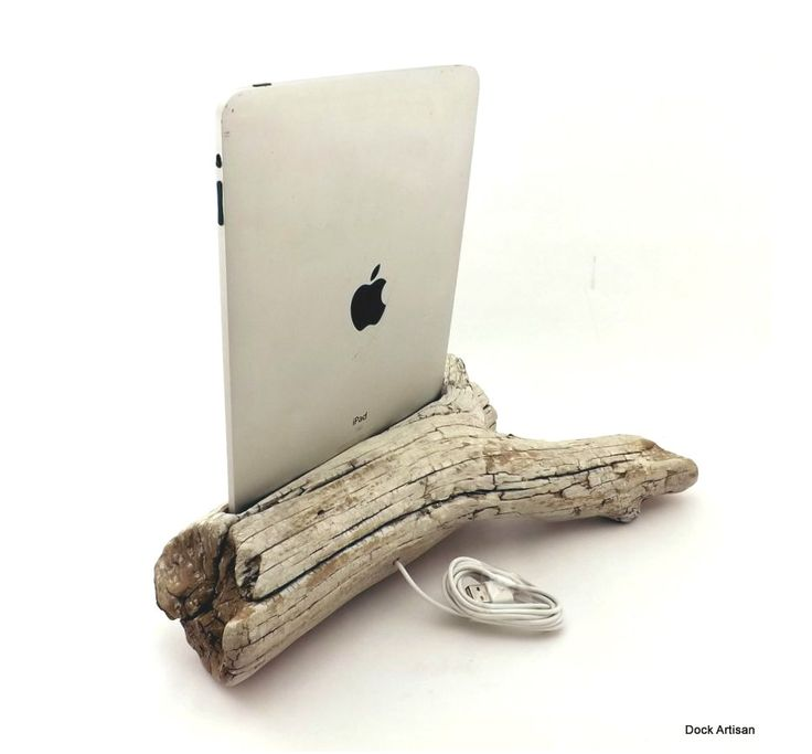 iPad Dock in Driftwood -