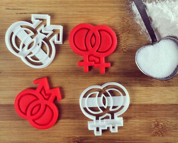 Lesbian Gay symbol Cookies Cutters LGBT pride  biscuits by Made3D