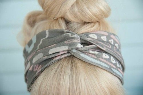 cute updo with a band