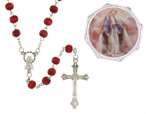 Our Lady Of Grace - Rose Scented Wood Rosary In Plastic Case - 4mm Bead - 27in. Necklace - 19in. Overall Length Toltec Deals - Rosaries. $4.50. 19in. Overall Length. 4mm Bead. Rose Scented Wood. 27in. Necklace. Our Lady Of Grace