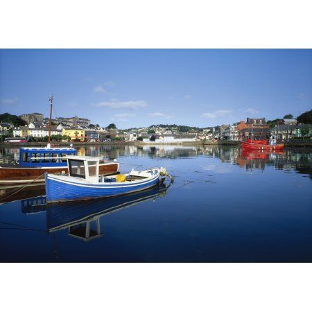 Kinsale Co Cork Ireland Boats In The Water In A Town Canvas Art - The Irish Image Collection Design Pics (36 x 24)