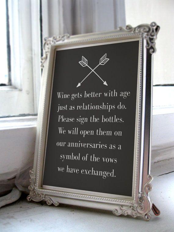Wine Wedding Guest Book Sign/Wine Wedding by NicoletteAnneDesign