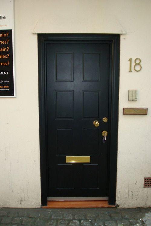 Front Door Bolts Part - 48: Black TITAN Steel Security Front Door ,£2250
