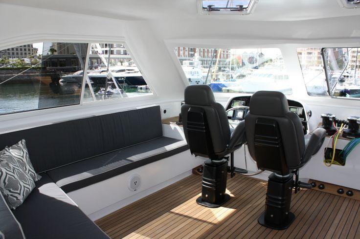 The beautiful interior of the Open Ocean 750 Sailing Catamaran http://www.2oceans.co.za/latest-news/open-ocean-750-sailing.html