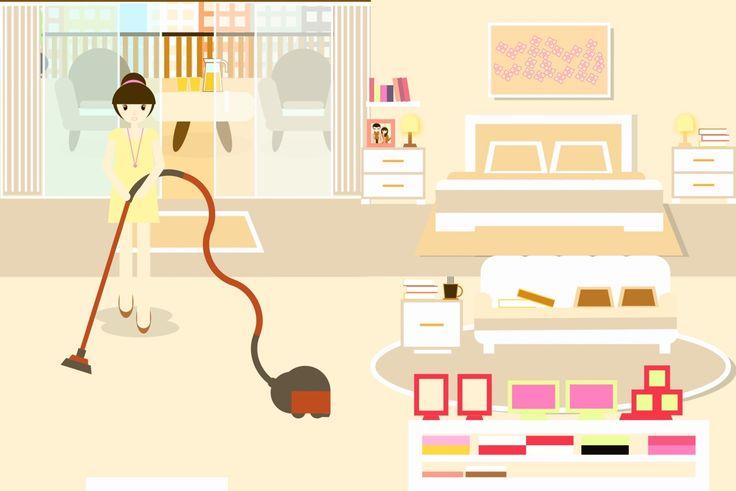 TaYuCa Vector Illustrations — Cleaning my bedroom ✌️✌