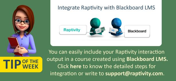 Tip of the Week: Integrate Raptivity with Blackboard LMS - e-Learning Feeds