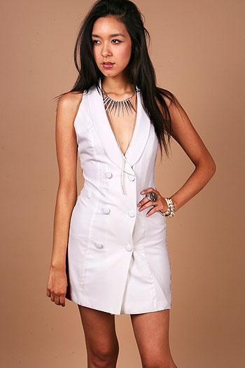 Tuxedo Hatch Dress - Shirt Dresses at Pinkice.com