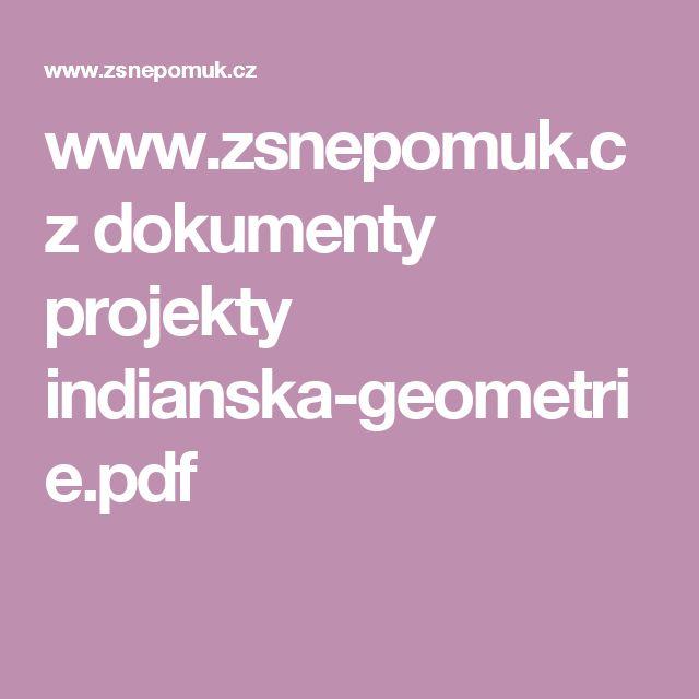 www.zsnepomuk.cz dokumenty projekty indianska-geometrie.pdf