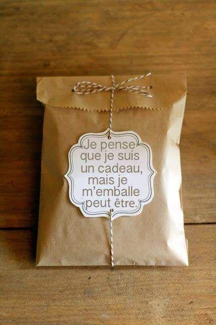 Étiquette cadeau