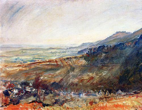 Max Slevogt, Palatinate Landscape - View of the Madenburg, 1924
