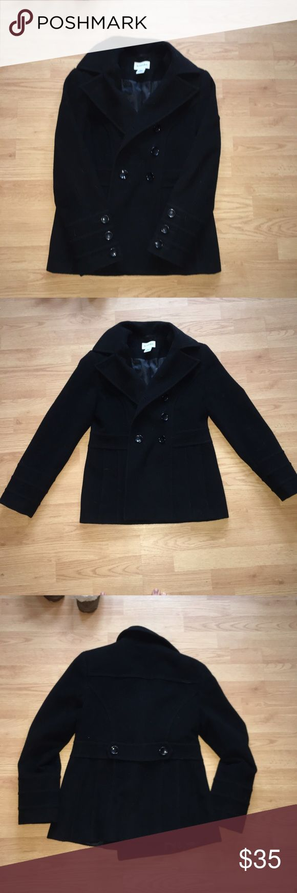 St. John's bay black pea coat St. John's bay black pea coat st johns bay Jackets & Coats Pea Coats