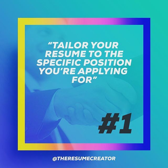 17 Best TheResumeCreator Is On #Instagram Images On Pinterest   Tailor Your  Resume  Tailor Your Resume