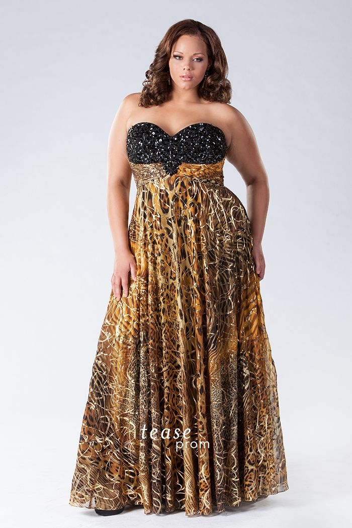 Plus Size Animal Print Dresses For Prom Prom Dress Style