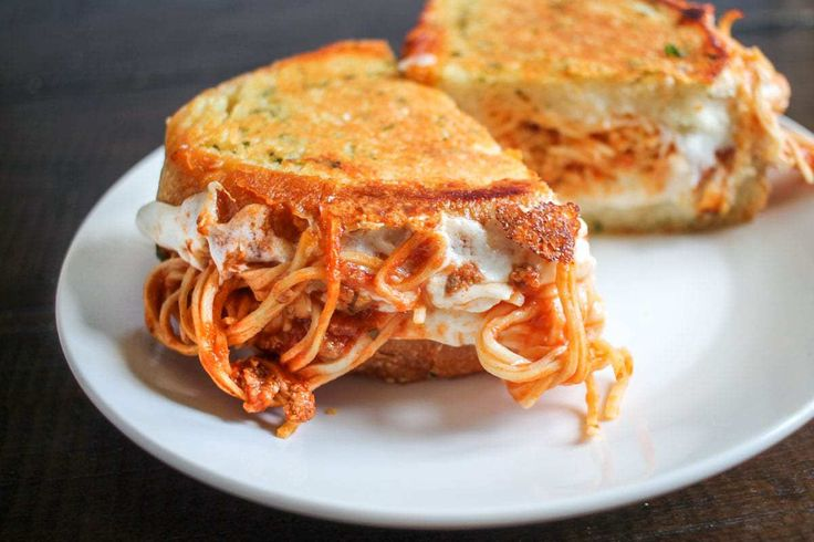 spaghetti-grilled-cheese. Make this like Burnt crumbs (hidden spaghetti, see refinery 29 video), but with skyline chili