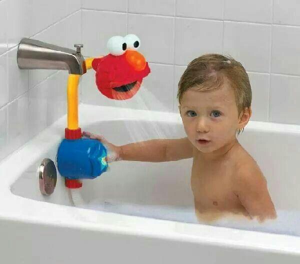 Elmo shower head Kids playing, Kids, Baby kids