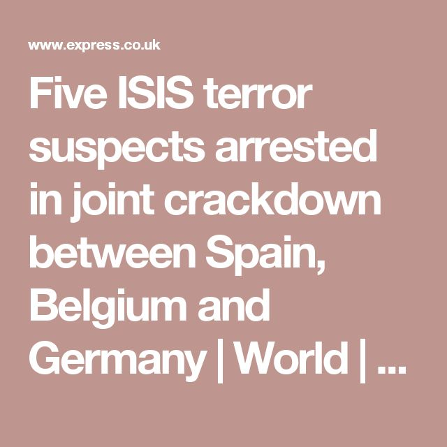 Five ISIS terror suspects arrested in joint crackdown between Spain, Belgium and Germany | World | News | Daily Express