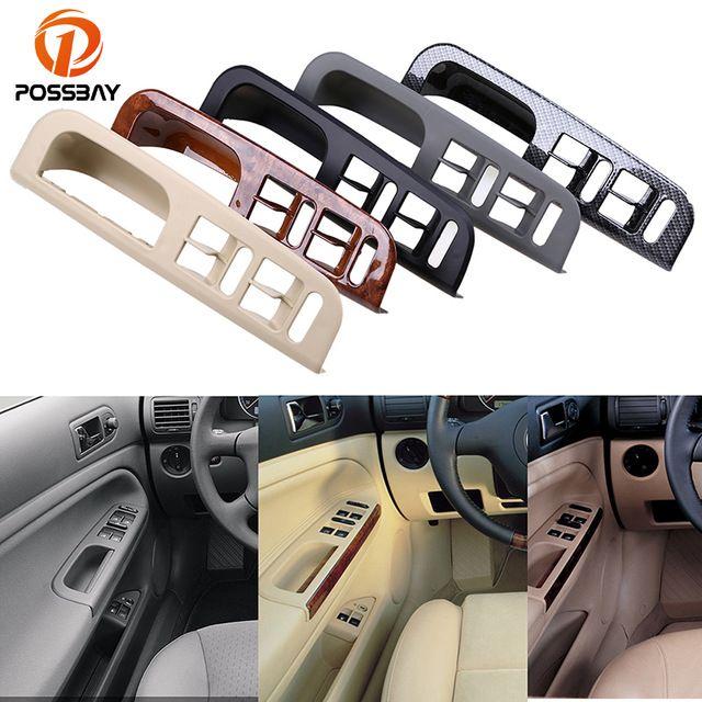 POSSBAY Car Door Window Switch Control Panel Bezel Handle